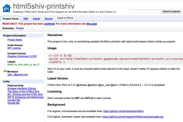 html5shiv