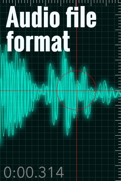 音声データファイルの種類と使い分け