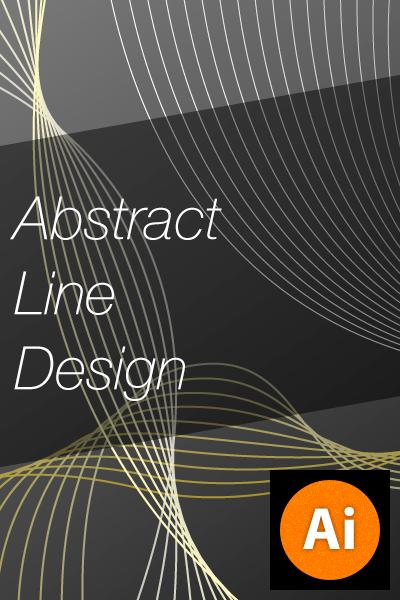 Illustratorでアブストラクトラインのデザインを作成する