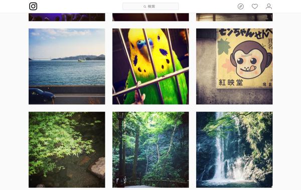 InstagramAPIで作成したタイムラインをデザインしてみる