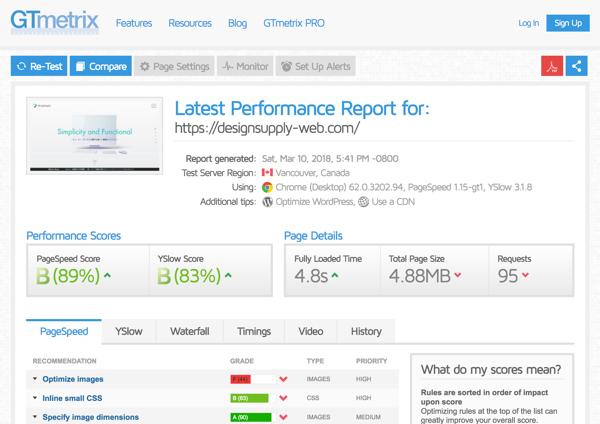 オンラインツールでウェブサイトのページ表示速度をチェック