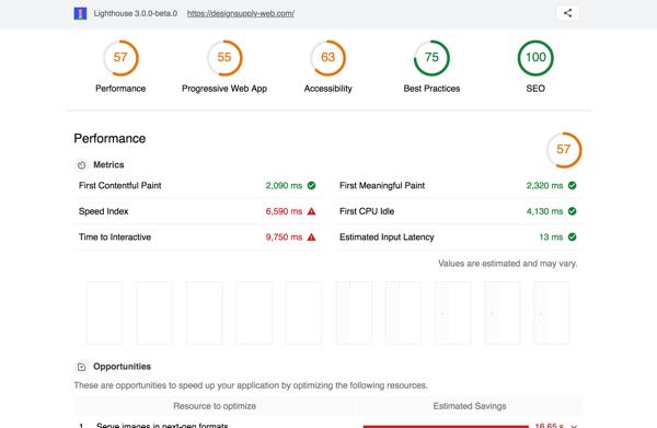 Chromeの拡張機能「Lighthouse」でウェブサイトのパフォーマンスをチェックする