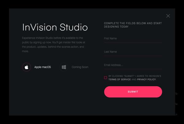 新たなUIデザインツールとして期待の「InVision Studio(early access版)」を導入してみる