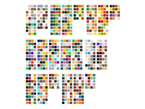 配色をイメージ別のマトリクス上に分類してデザインワークに役立てる