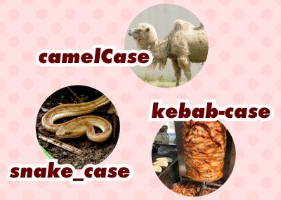 命名規則「キャメルケース」「スネークケース」「ケバブケース」についてまとめてみました