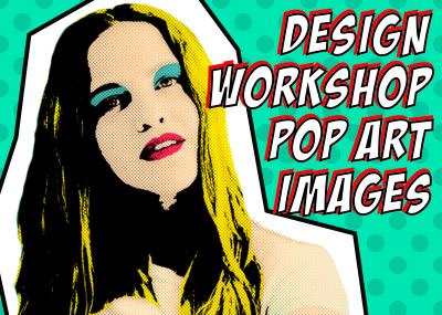 【デザインワークショップ】vol.20 写真をポップアート風のデザインに仕上げてみる