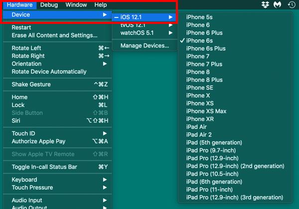 XcodeのSimulatorとSafariを使ってiPhoneなどのiOS端末のデバッグ