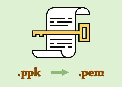 SSH・SFTP接続に使うPutty形式(.ppk)の秘密鍵をPEM形式に変換する