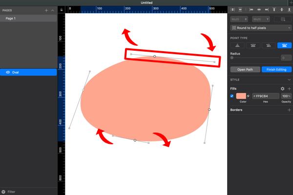 Sketchで手書き風でいびつな形の円の描いてみる