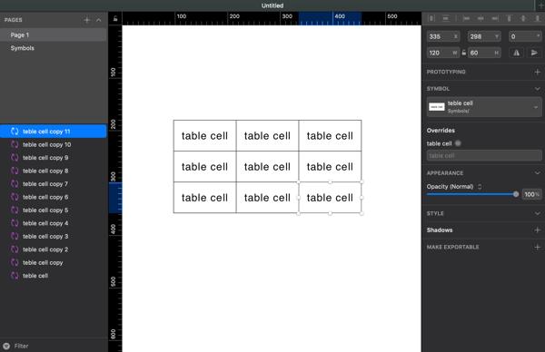 Sketchでテーブルのデザインをお手軽かつ簡単に作成してみる