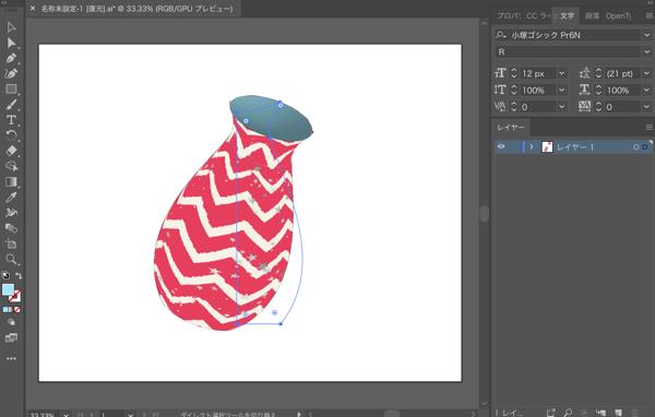 Illustratorのイメージマッピング機能と3D回転体機能で立体的なオブジェクトを作る