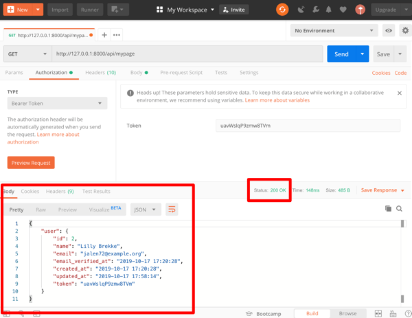 Laravelでログインとトークン認証のAPIを作成してみる(API実装)