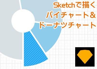 Sketchでパイチャートやドーナツチャートなどのグラフ図形を描いてみる