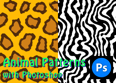 Photoshopのフィルターを使ってゼブラ柄やヒョウ柄のアニマルパターンを作ってみる