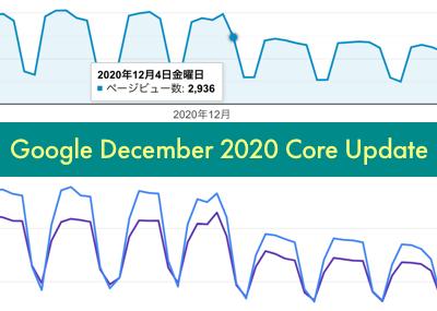 2020年12月グーグルコアアップデートで運用サイトのアクセス数に変動があった話